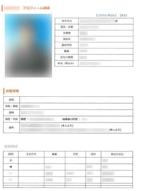 男性会員様 詳細ページ